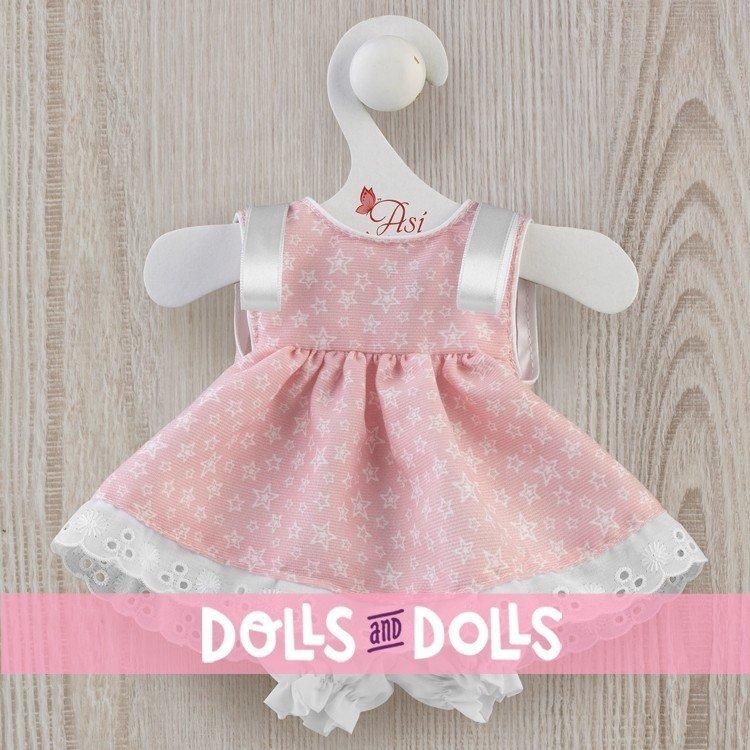 Así doll Outfit 36 cm - Pink star dress for Chinín doll