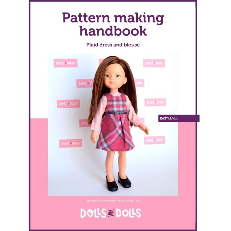 Dolls And Dolls downloadable pattern for Las Amigas dolls - Plaid dress with blouse