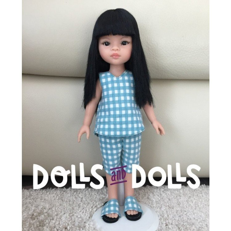 Dolls And Dolls downloadable pattern for Las Amigas dolls - Shorts with blouse