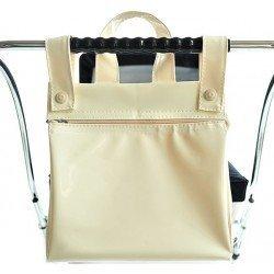 Bebelux patent leather beige bag