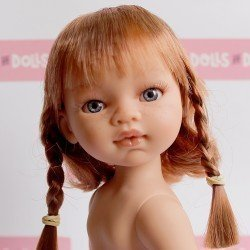 Antonio Juan doll 31 cm - Emily red haired with braids without clothes