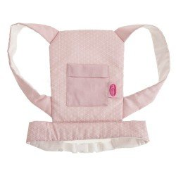 Antonio Juan doll Complements 40-42 cm - Baby carrier with geometric print