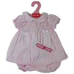 Antonio Juan doll Outfit 40-42 cm - Pink dress with small dots and matching briefs