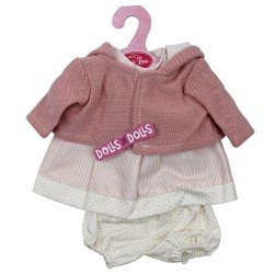 Antonio Juan doll Outfit 33-34 cm - Pink dots and stripes set with jacket