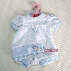 Antonio Juan doll Outfit  - Rompers with white and blue hat and dappled 40-42 cm