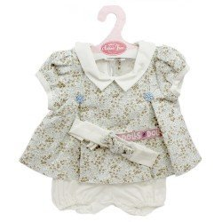 Antonio Juan doll Outfit 40-42 cm - Flower printed outfit with headband