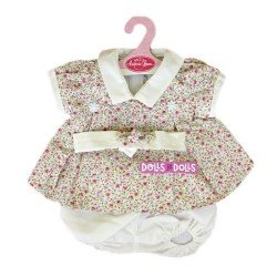 Antonio Juan doll Outfit 40-42 cm - Flower printed dress with headband