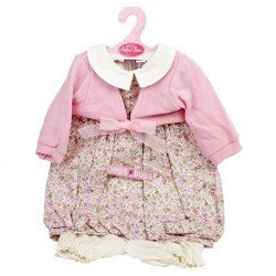 Antonio Juan doll Outfit 55 cm - Flower printed outfit with pink jacket