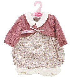 Antonio Juan doll Outfit 55 cm - Flower printed outfit with mauve jacket