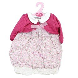 Antonio Juan doll Outfit 55 cm - Printed outfit with raspberry jacket