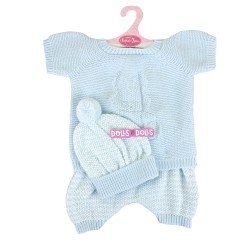 Antonio Juan doll Outfit 52 cm - Mi Primer Reborn Collection - Blue knitted pyjamas with hat