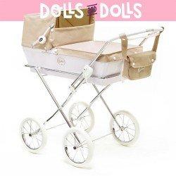 Arrue doll pram 74 cm - White and beige Prestigio Jr