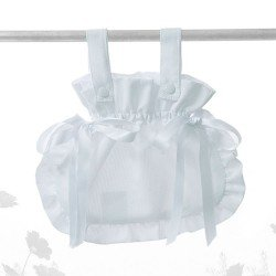 Bebelux pique white bag with satin ties