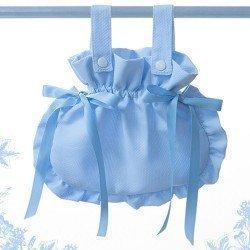 Bebelux pique light blue bag with satin ties