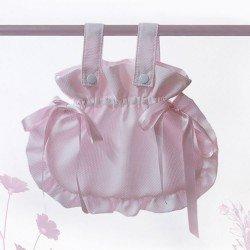 Bebelux pique pink bag with satin ties
