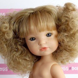 Berjuan doll 35 cm - Boutique dolls - Blonde hair Fashion Girl without clothes