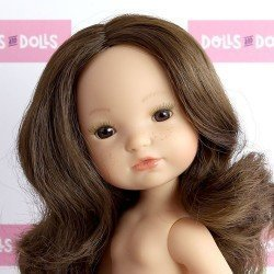 Berjuan doll 35 cm - Boutique dolls - Brown hair Fashion Girl without clothes