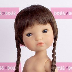 Berjuan doll 35 cm - Boutique dolls - Fashion Girl with braids without clothes