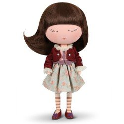 Berjuan doll 32 cm - Anekke - Cozy with maroon outfit