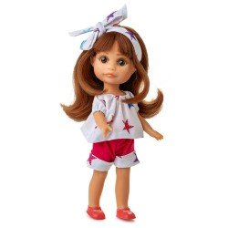 Berjuan doll 22 cm - Boutique dolls - Luci with stars printed dress