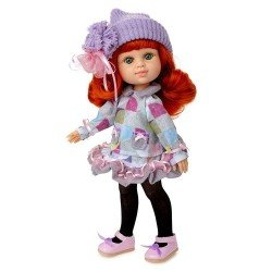 Berjuan doll 35 cm - Boutique dolls - My Girl red haired with liliac hat