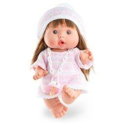 Marina & Pau doll 26 cm - Nenotes Party Edition - Pink wool