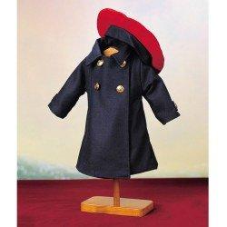 Outfit for Mariquita Pérez doll 50 cm - Blue coat with beret