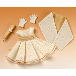 Outfit for Mariquita Pérez doll 50 cm - Party dress with shawl
