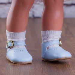 Complements for Mariquita Pérez doll 50 cm - Light blue shoes