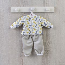 Outfit for Así doll 43 cm - Dino pajamas for Pablo doll
