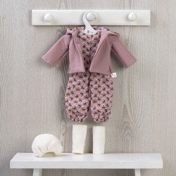 Outfit for Así doll 40 cm - Printed jumpsuit and hooded jacket for Sabrina doll