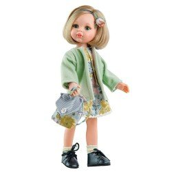 Paola Reina doll 32 cm - Las Amigas - Carla with flower printed dress