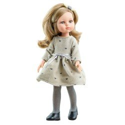 Paola Reina doll 32 cm - Las Amigas - Carla with hearts dress