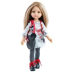 """Paola Reina doll 32 cm - Las Amigas - Carla with """"Mickey"""" outfit and bag"""