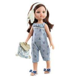 Paola Reina doll 32 cm - Las Amigas - Carol with sailor jumpsuit and bag