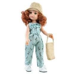Paola Reina doll 32 cm - Las Amigas - Cristi with jumpsuit, bag and hat