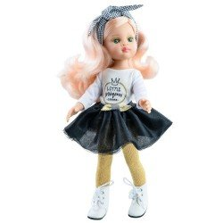 """Paola Reina doll 32 cm - Las Amigas Funky - Nieves with """"Little Princess"""" outfit"""