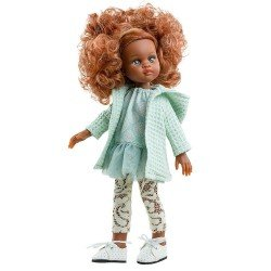 Paola Reina doll 32 cm - Las Amigas Funky - Nora with green outfit