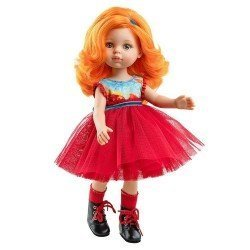 Paola Reina doll 32 cm - Las Amigas Funky - Susana with red tulle dress
