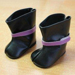 Complements for Paola Reina dolls 60 cm - Las Reinas - Black velcro boots