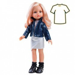 Paola Reina doll Outfit 32 cm - Las Amigas - Carla dress with blue jacket
