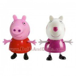 Figuras Peppa Pig y Suzy Sheep