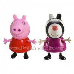 Figuras Peppa Pig y Zoe Zebra