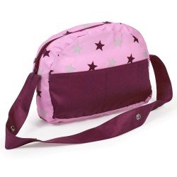 Bag for doll pram - Bayer Chic 2000 - Raspberry-pink stars