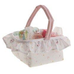 Antonio Juan doll Complements 40-42 cm - Layette basket with unicorns