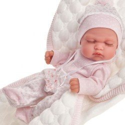 Antonio Juan doll 26 cm - Luni with quilted pink blanket