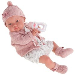 "Antonio Juan doll 52 cm - ""Mi primer Reborn"" Alejandra with bottle"