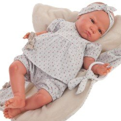 "Antonio Juan doll 52 cm - ""Mi primer Reborn"" Berta with blue eared teether"