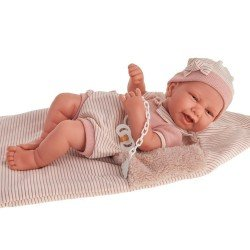 Antonio Juan doll 42 cm - Newborn girl Carla with sleeping bag