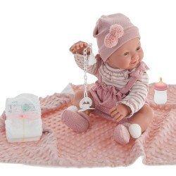 Antonio Juan doll 42 cm - Newborn Mia Pee with blanket